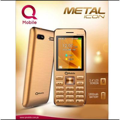 Qmobile Metal Icon Mobile Phone, 2 4inch Display, Dual-Sim, Camera,  Bluetooth, FM Radio, 1800mah Battery