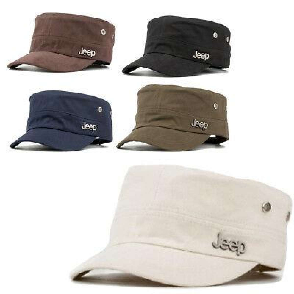 Unisex Sun Cap Mlticolor Military Style Flat Cap Sport Jeep Adjustable Hat Cool
