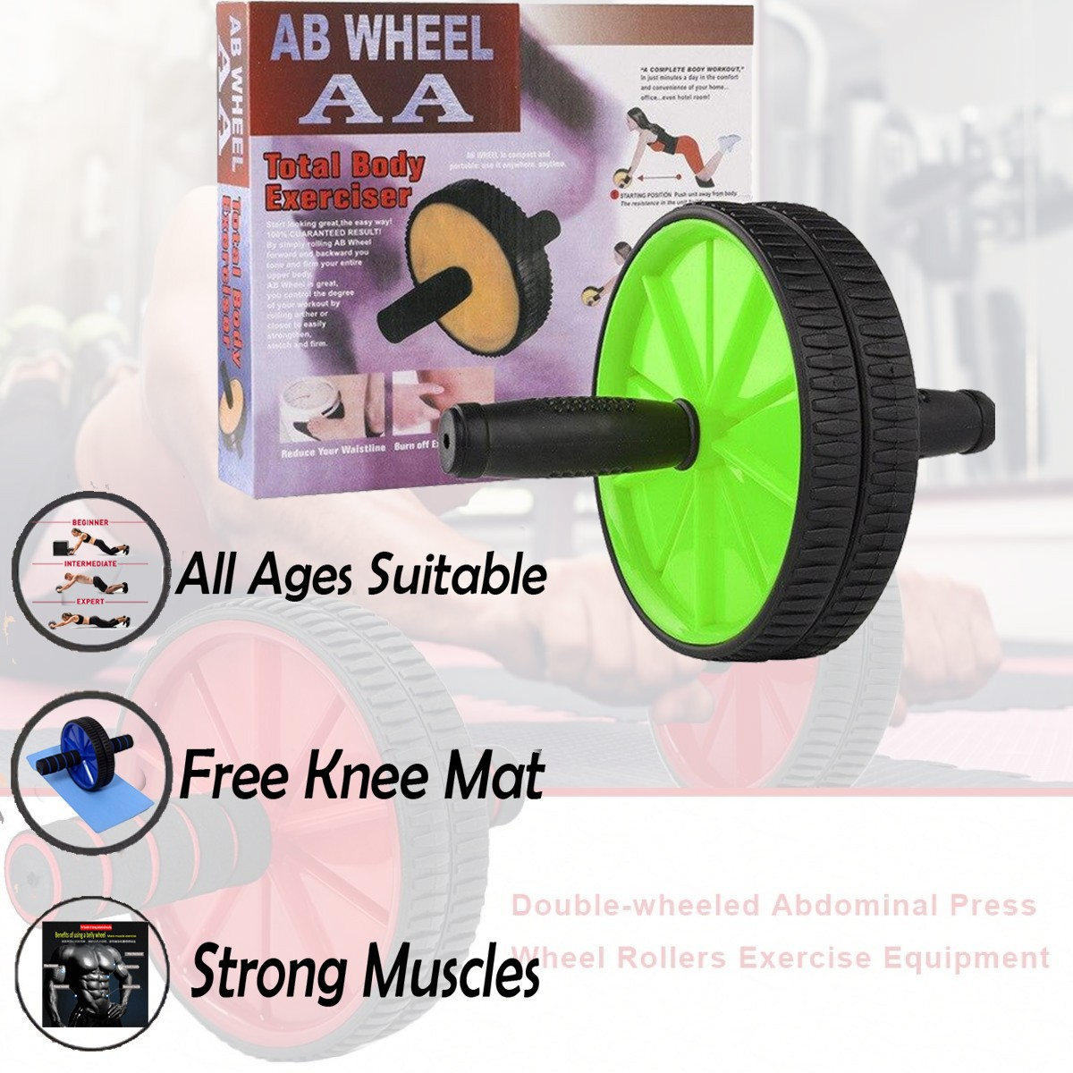 Ab wheel roller abwheel roller abs ab roller wheel with foam abdominal wheel roller