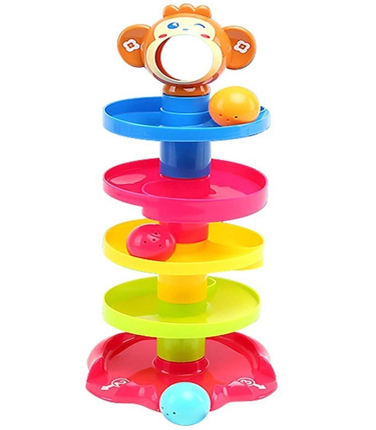 Stock Baby Toys Tower Puzzle Rolling Ball Bell Stackers Kids Toys Developmental Educational Toy Rolling Ball for Children