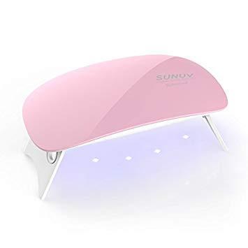 UV LED Nail Lamp,6W Nail Lamp Light with 45s/60s Timer Nail Dryer,Mini Portable USB Gel Nail Polish Lamp for Nail Art at Home