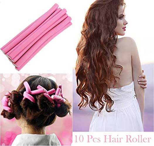 Hair Styling Hair Rollers (Multicolour)-10 Pieces