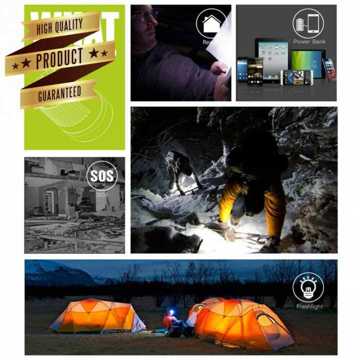 10,000 mAh Ultra Bright LED Lantern and Power Bank - Camping Suitable for: Hiking, Camping