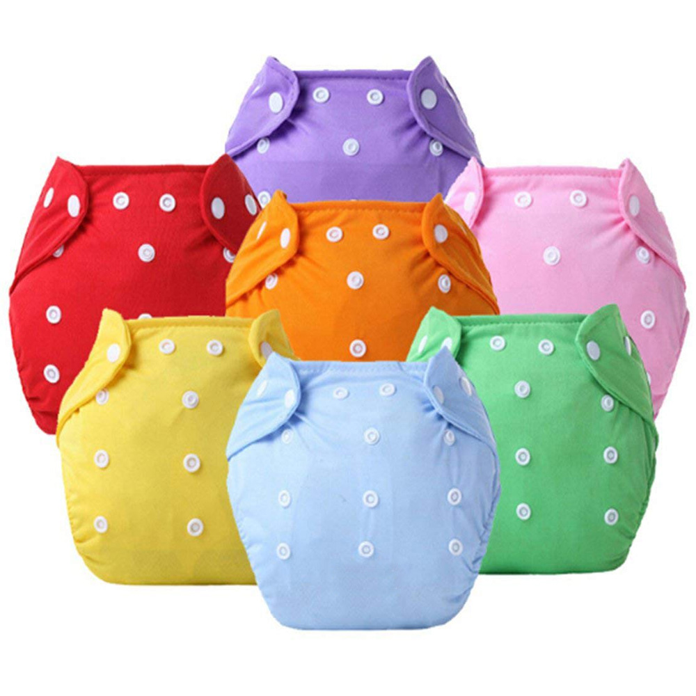 ADjustable  0 To 9 Months Old Baby Washable SUn Baby Button Cloth Diaper