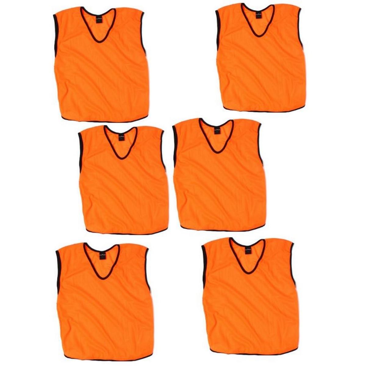 Pack of 6 - Vest in Mesh For Football Training - Orange