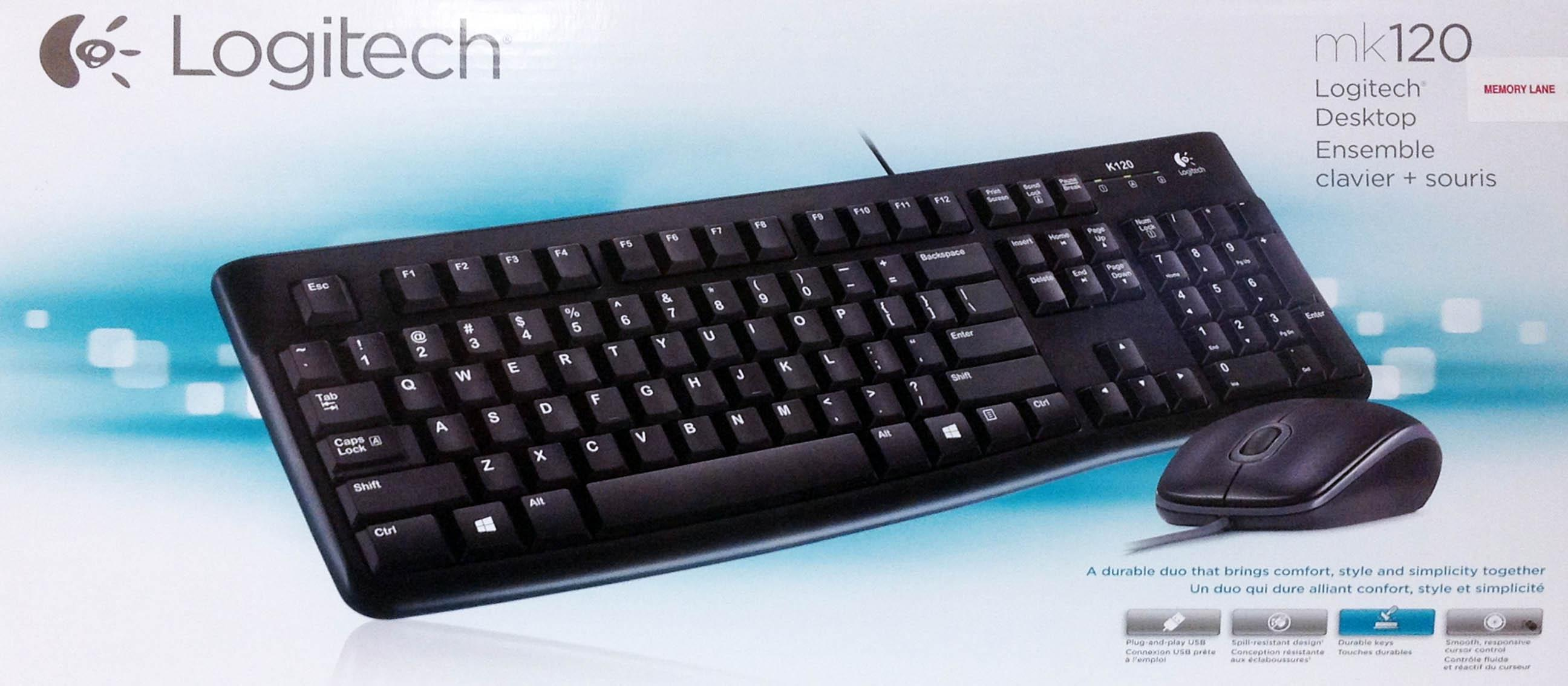 Logitech Keyboard Mouse Bundle Mk120