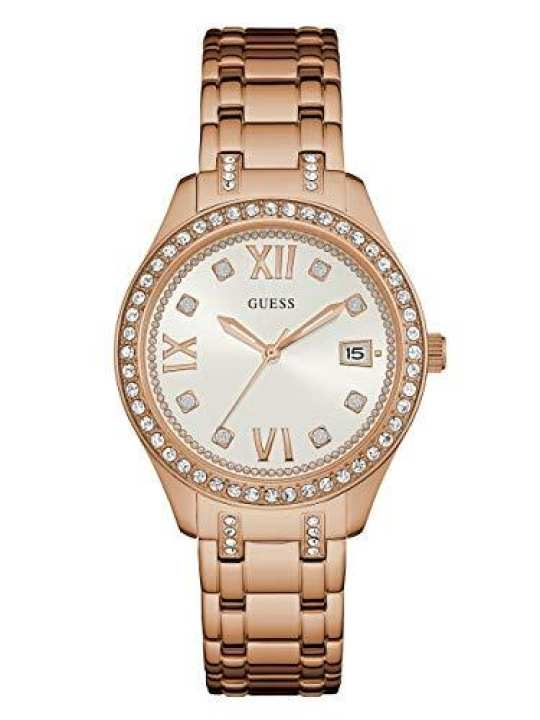 Guess Analogue White Dial Women's Watch-W0848L3