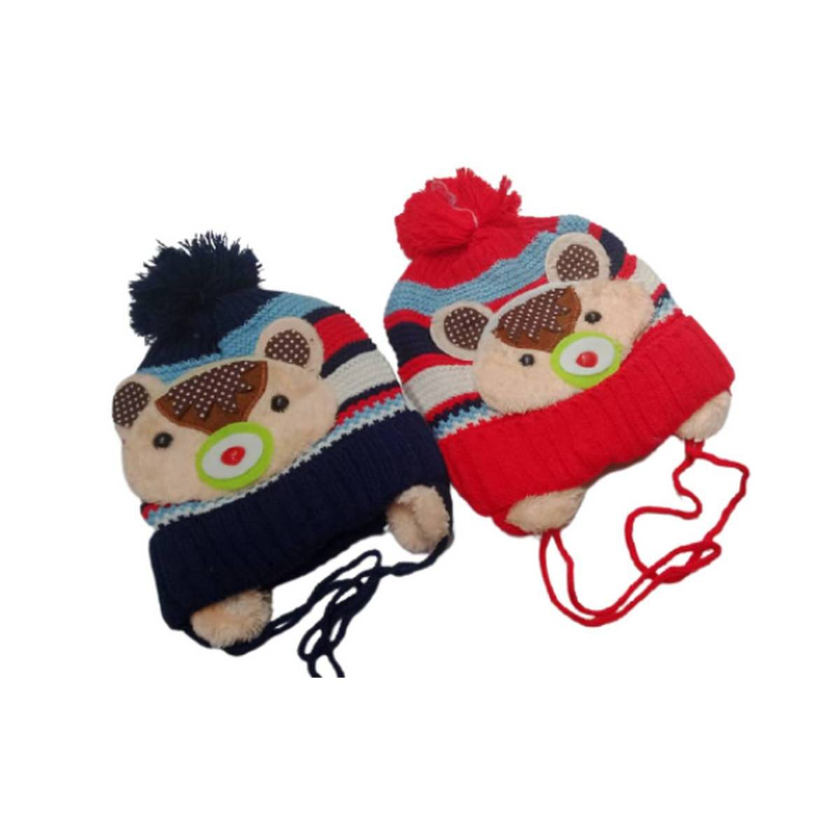 Eisa Baby Cap For Kids Wool Knitted Warm Hats Winter Knit Hat Casual