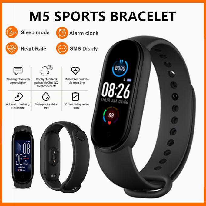 M5 Smart Fitness band / Smart Watch - Black