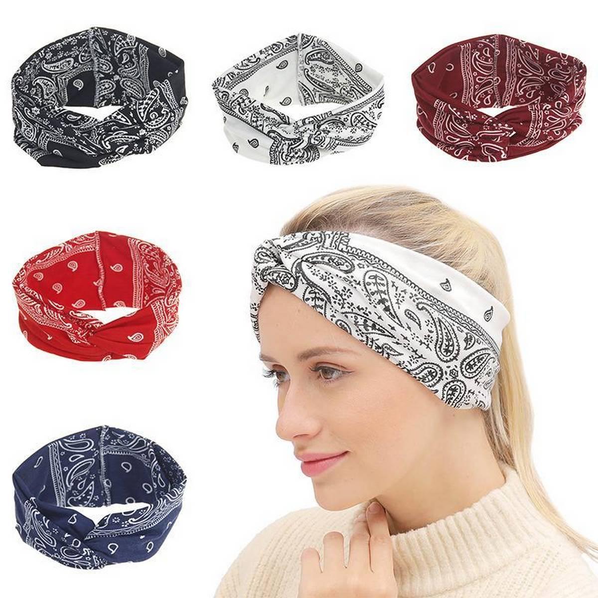 Pack of 6 - Bohemian Ethnic Style Unisex Bandana Headband