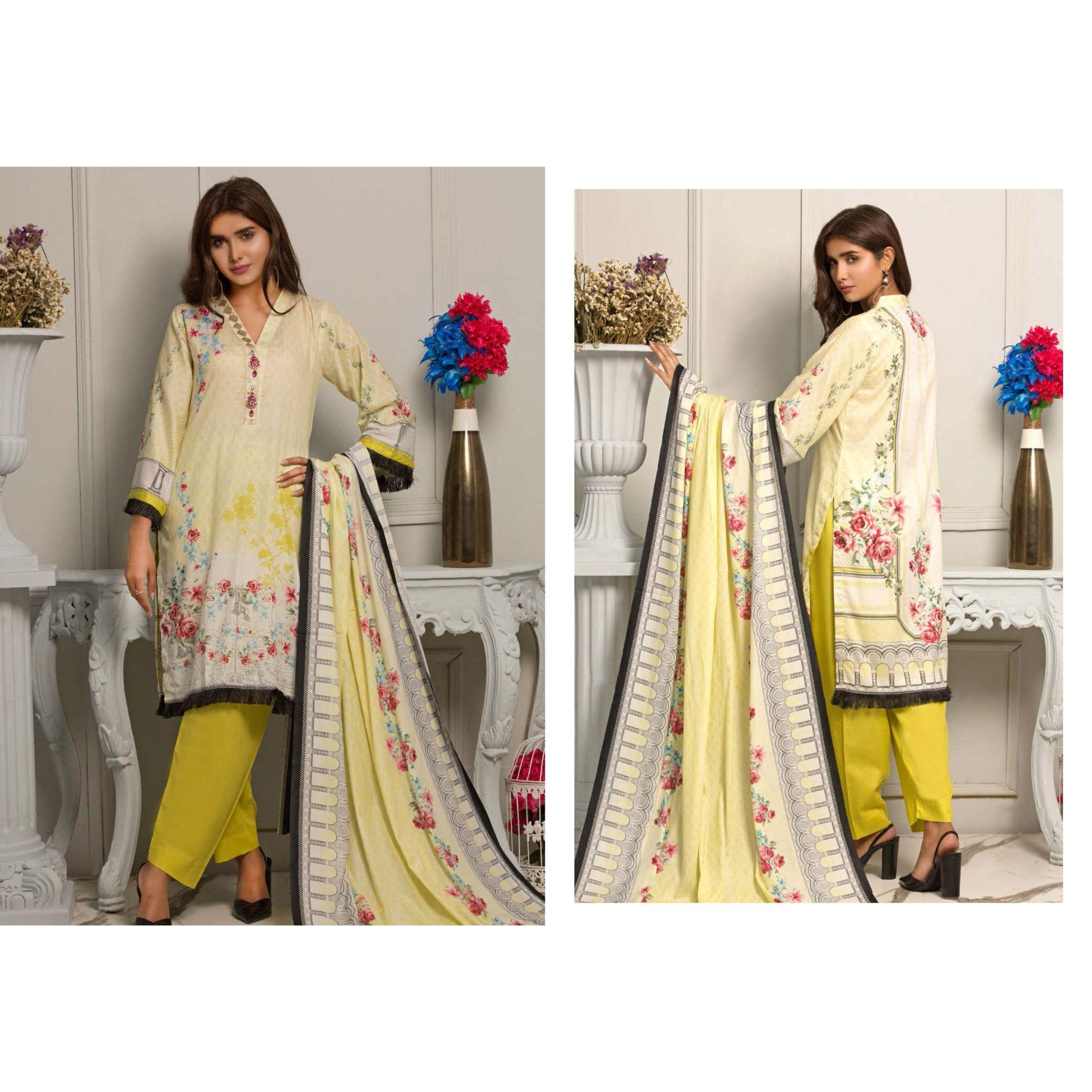8464ed9908 Rangreza Printed Lawn 2019 collection Unstitched Suit - 3 Piece Volume-7