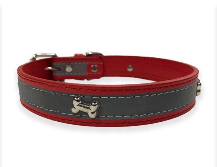 Collar For Dogs ( reflective Bone ) S,M,L