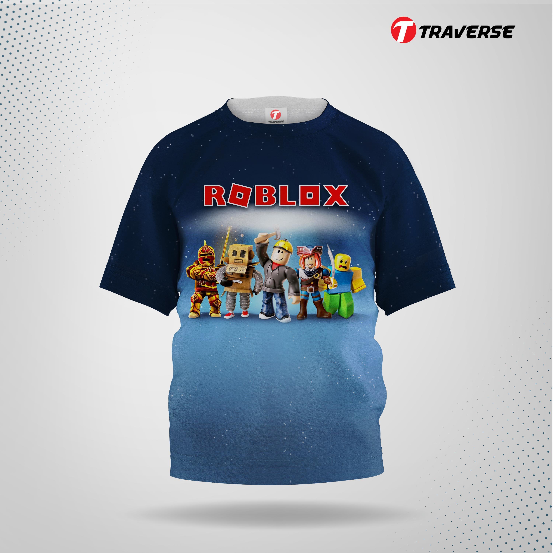 Roblox Digitally Printed Fashion T-shirts for  Kid's by Traverse