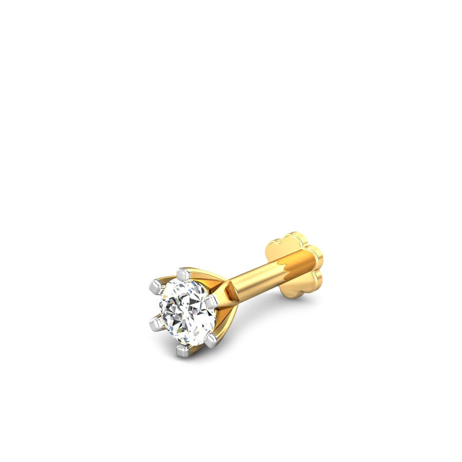 Buy 1 Get 2 Free Silver Stone Golden Nose Pin Buy Online At Best