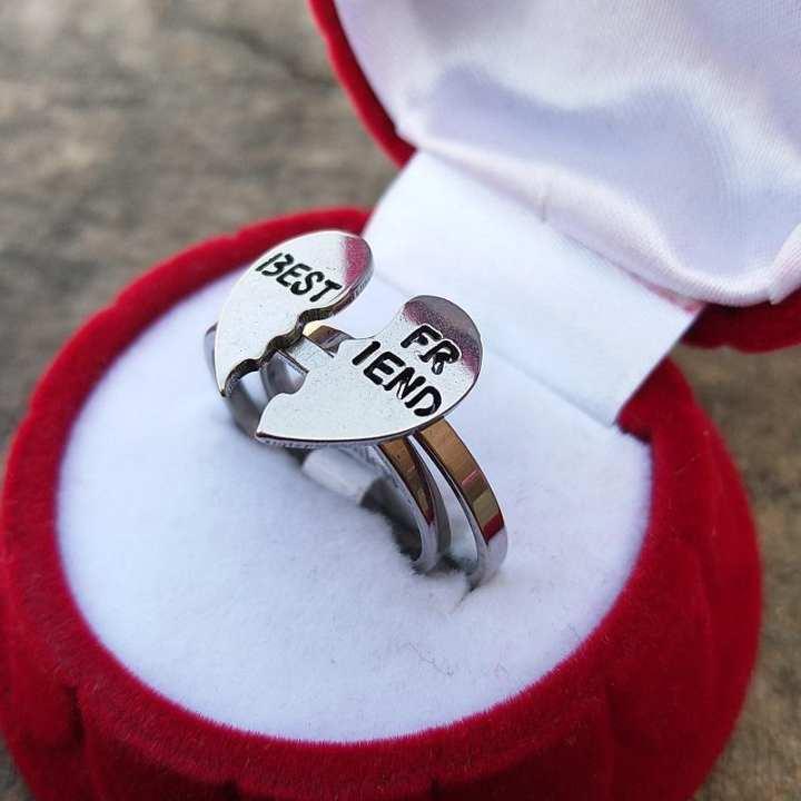 Best Friend Broken Heart Love Ring for me and women