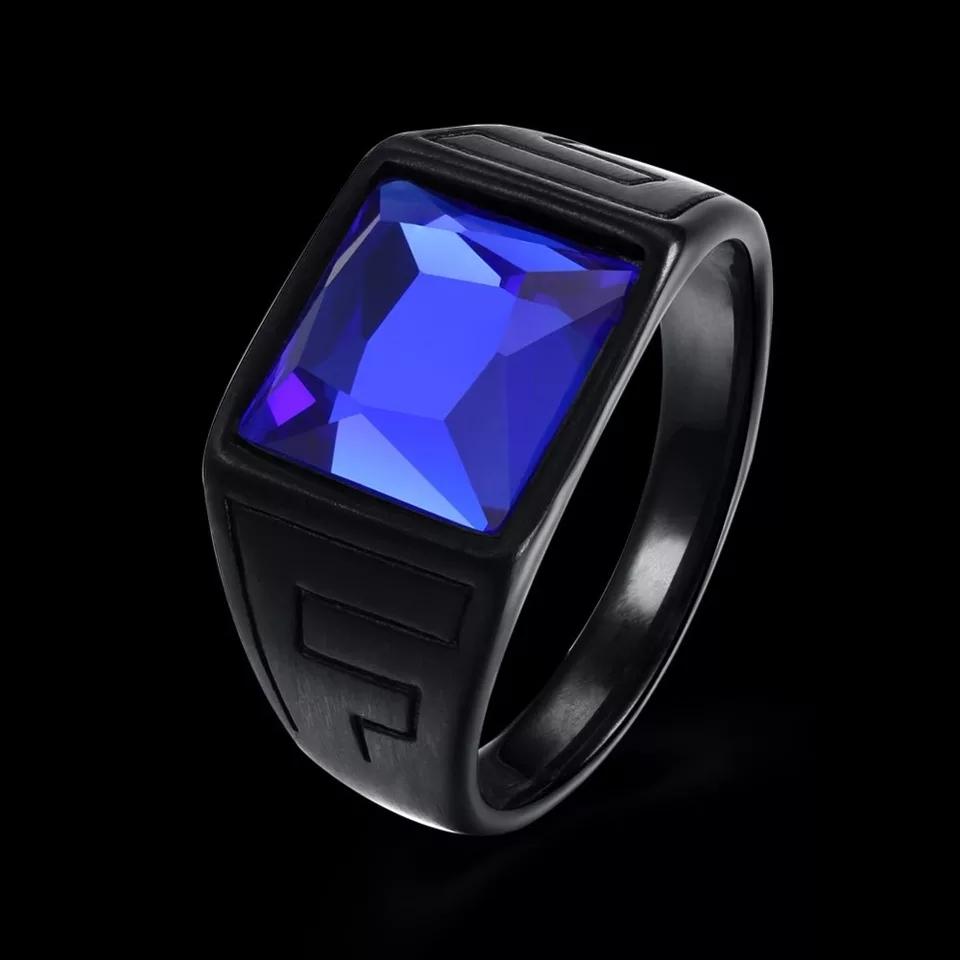 Zircon Stone Elegant Style Ring Gift for Men