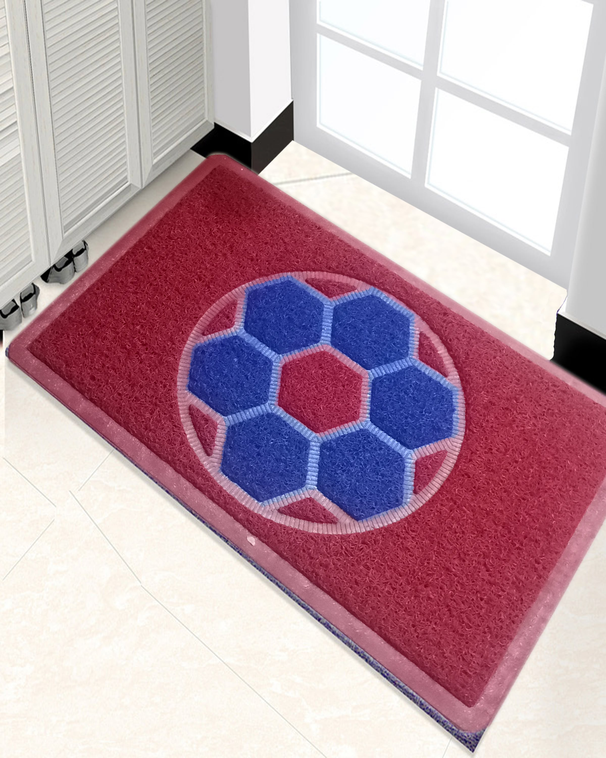 Beautiful Multicolour Rugs / Floor mats Rubber and Grass Mat stuff - For Home Decoration to Stop Dust and Wet Floor - Soft and Smooth