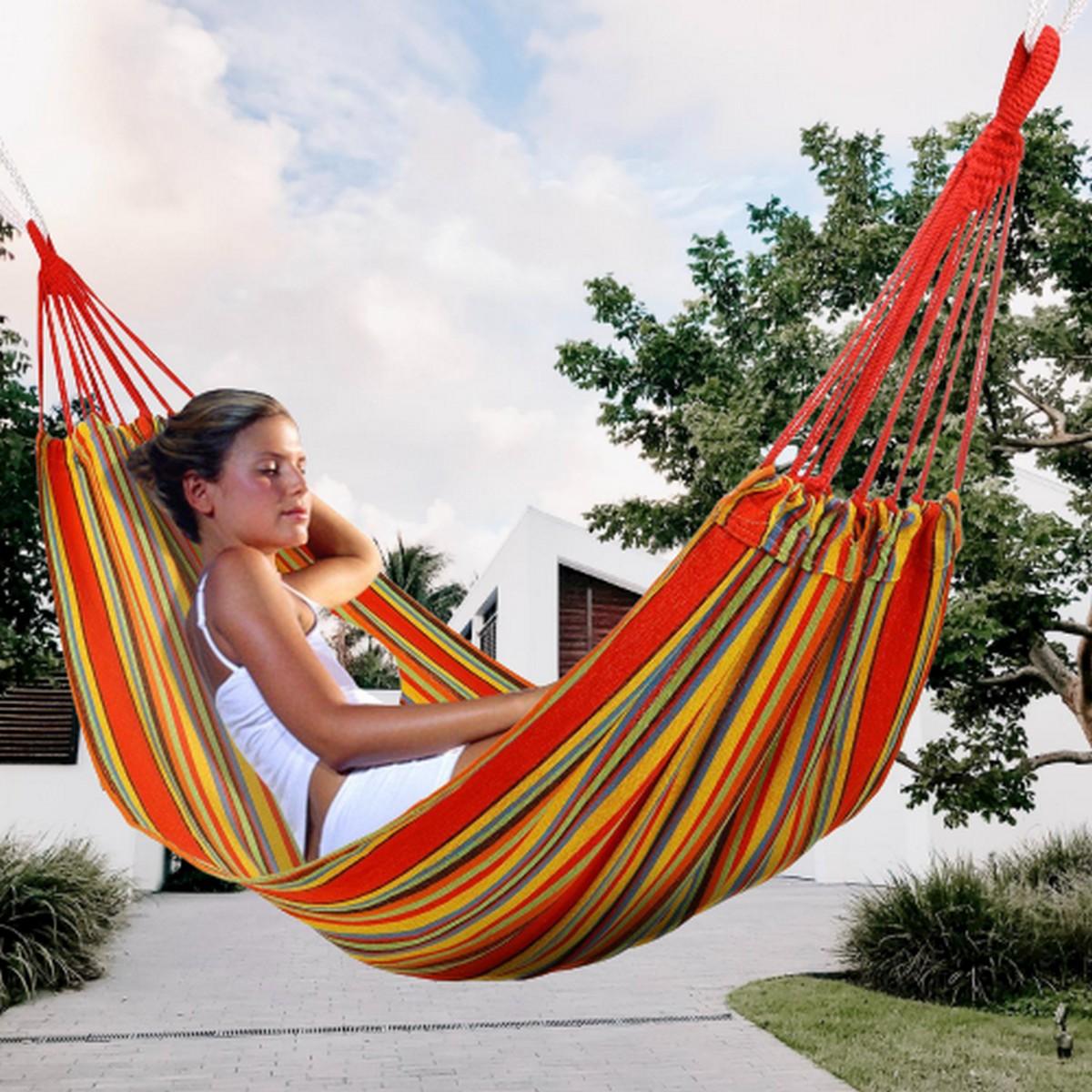 Wayfair Giant Portable Outdoor Paracord /Canvas Hammock For Travel Camping Hammock