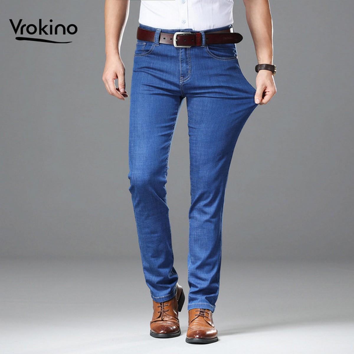 Men's Business Class Blue Color JEANS Slim-Fit Pants for Boy's Formal and Regular Fashion Wear