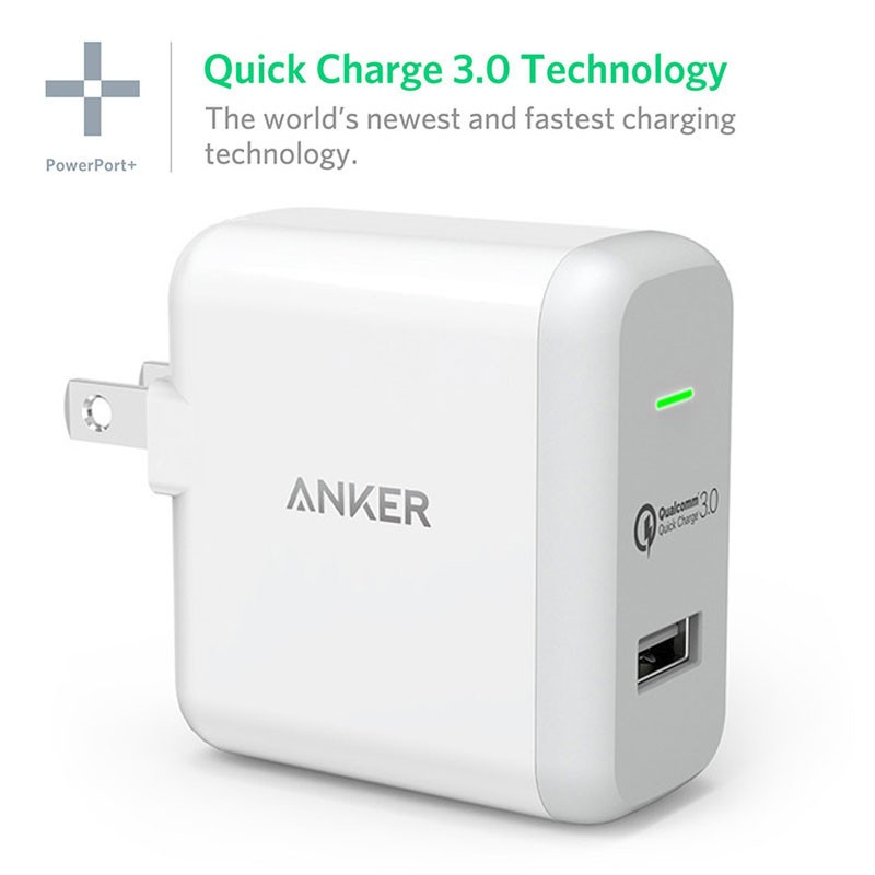 Quick Charge 3.0 Ankar 18 watts USB Home Travel wall Charger