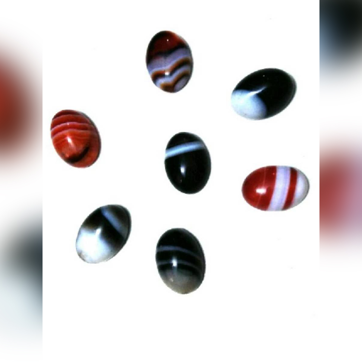Pack Of 7 Sulemani Haqeeq Agate Stone