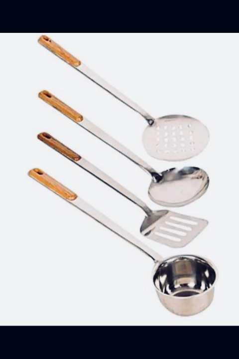 4 pieces   Steel spoon    best for silver steel things