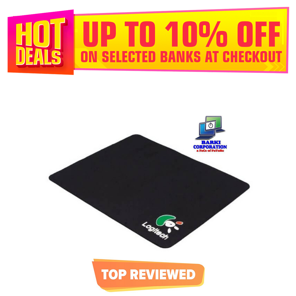Blue / Black Mouse Pad (9.5inch x 8inch)