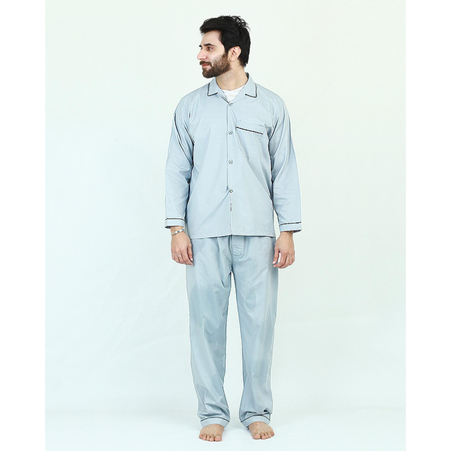 694e7f68a9fc Pack of 2 Cotton Polyester Night Suit (Pajama + Shirt) for Men - Green