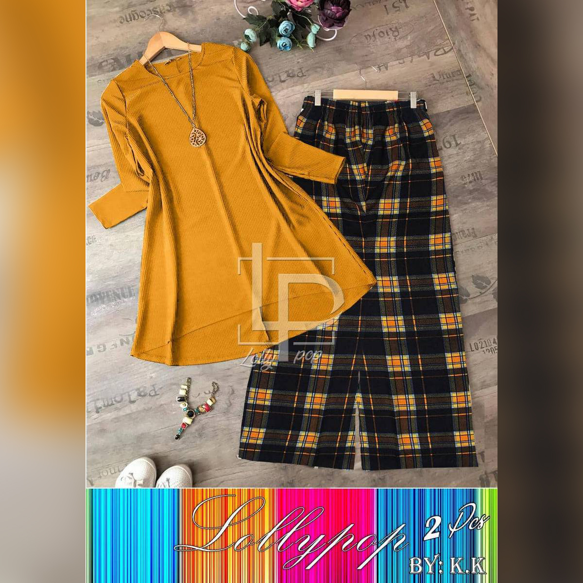 Shahzer Apparel Yellow and Yellow Printed Plazo