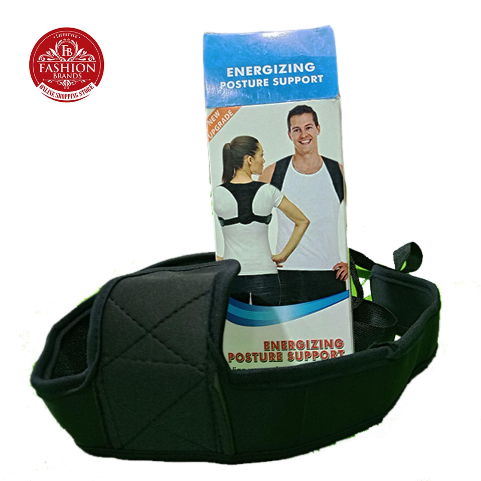 Posture Corrector Belt Adjustable - Back Pain Relief Shoulder Back Support Belt for men and women-Back Braces-Black