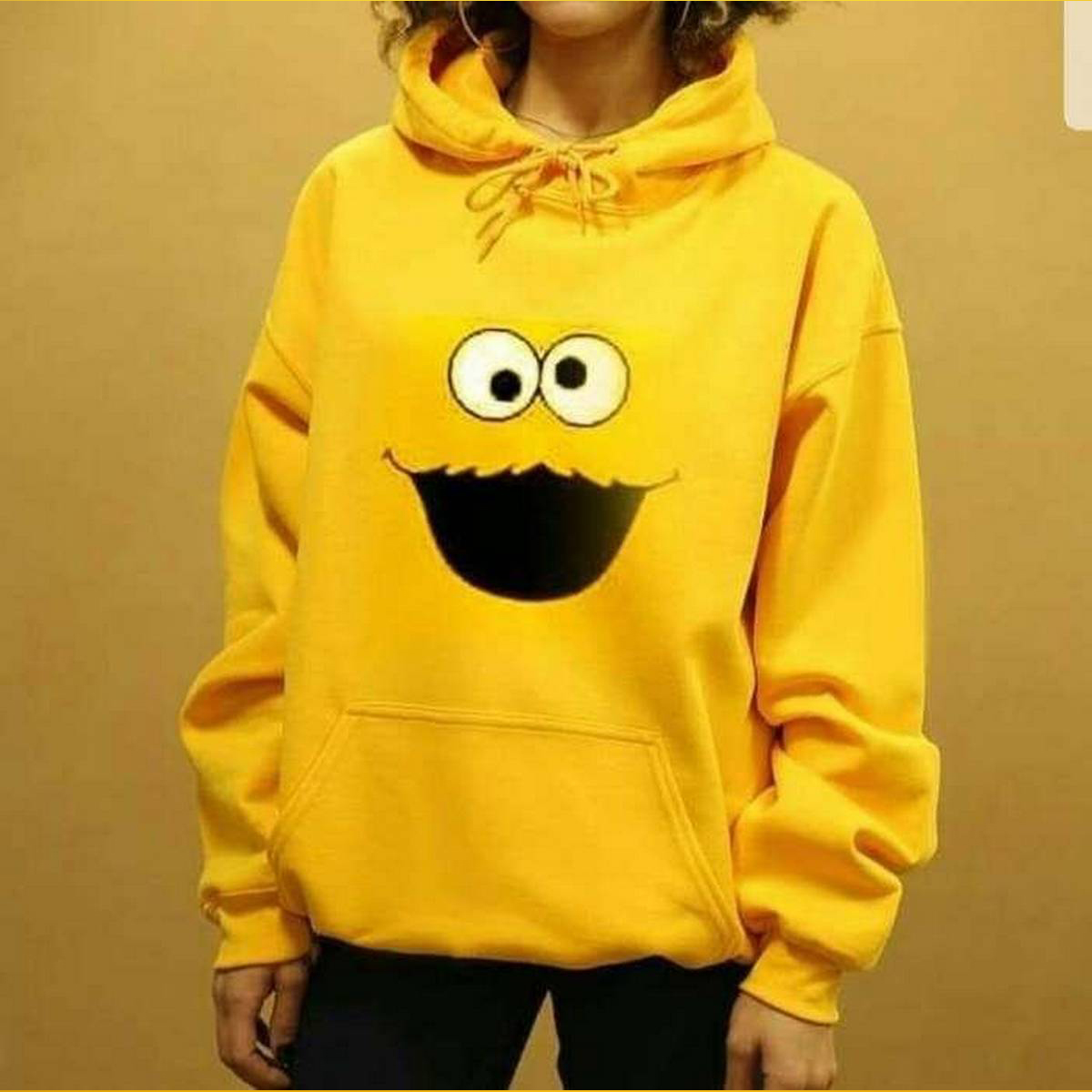 Yellow face hoodie For Girls and boys both
