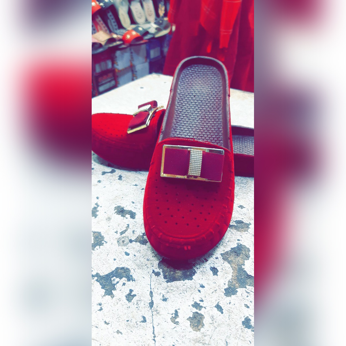 KFC- casual slipper loafers for women- Mehroon