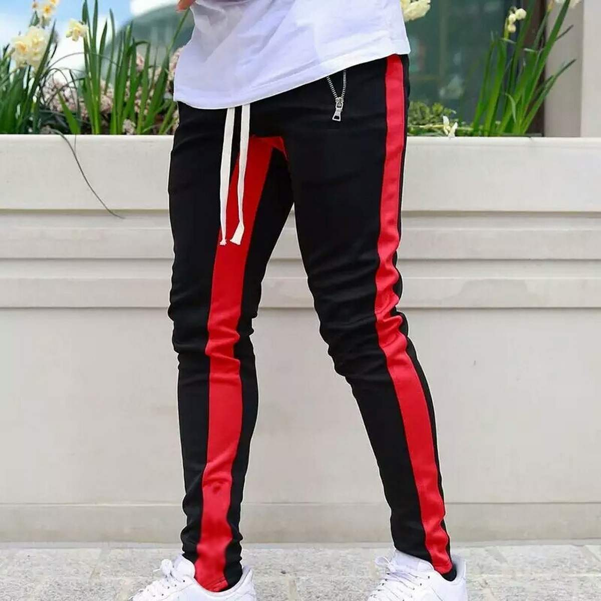Stylish Interlock Contrast Panelling Trouser For Men