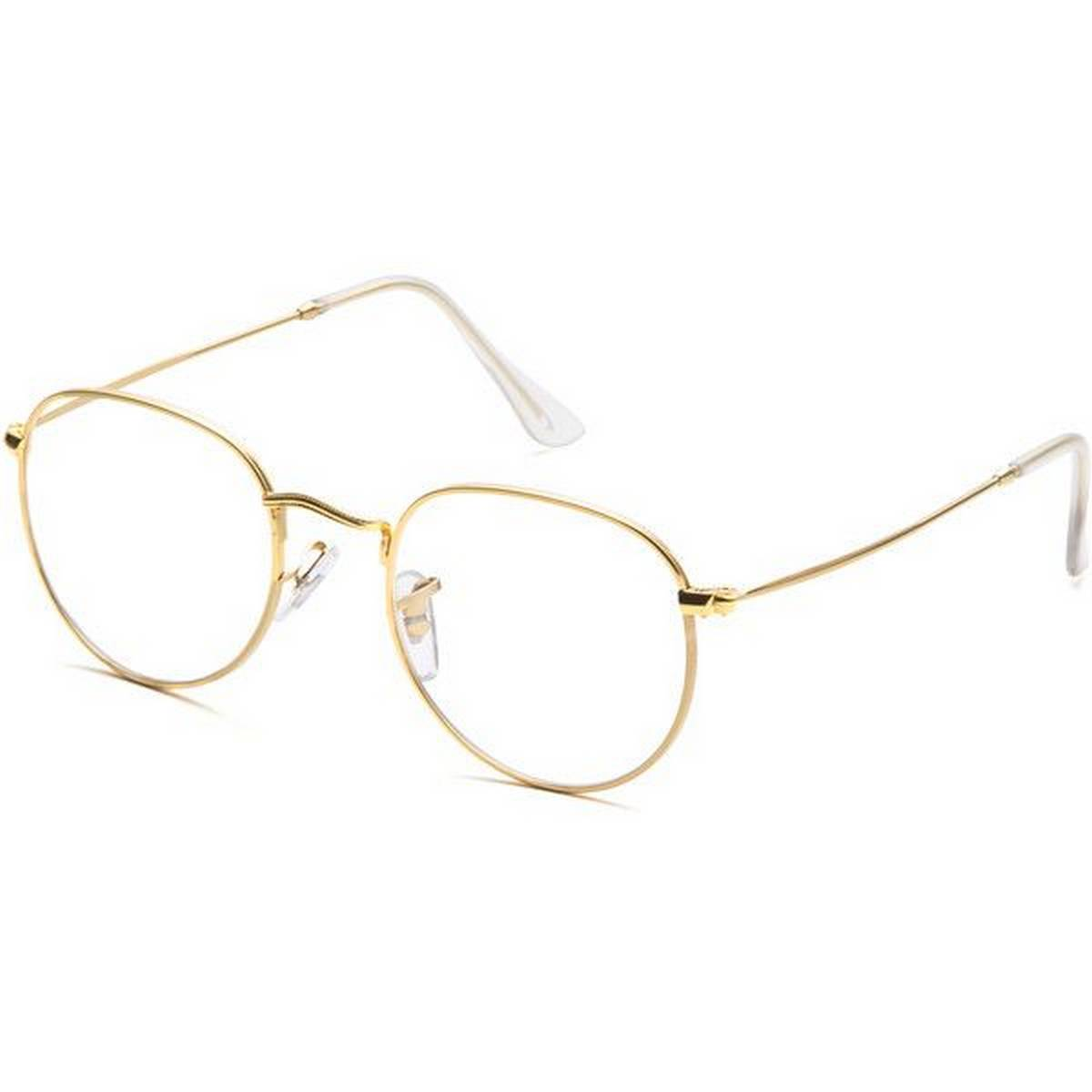 American Style Round Golden frame Transparent Glasses For Men And Women