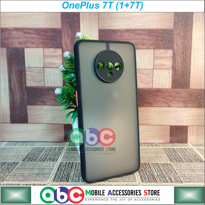 OnePlus 7T Case , Smoky Matte Shock Proof with Camera Protection Back Cover for OnePlus7T