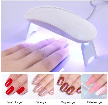 Mini Portable White LED UV Lamp Nail Dryer USB Cable