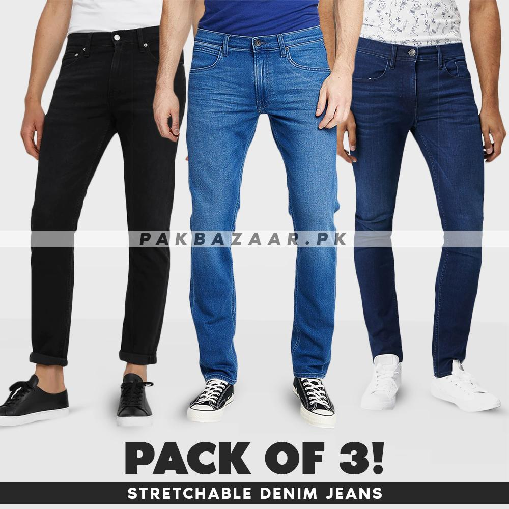 83fa8a969 Pack of 3 Stretchable Jeans