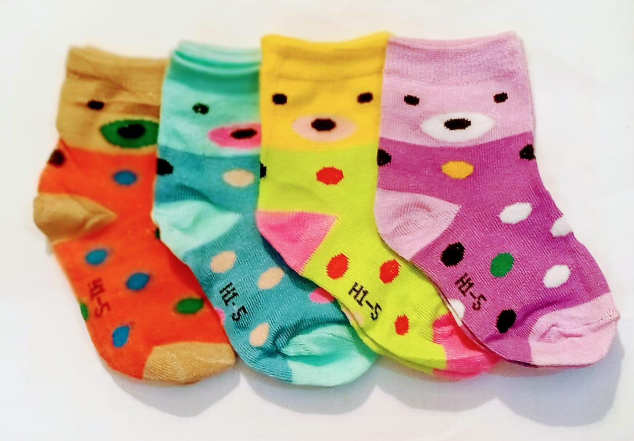 Pack of 4 Multicolor socks for kids Baby Socks 3 month - 6 year