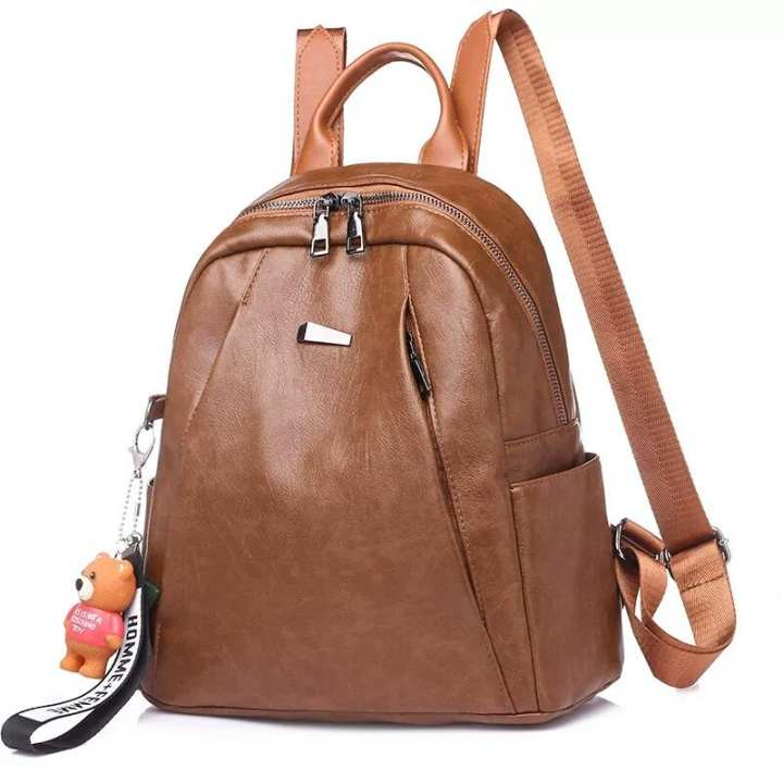 Fancy high quality Imported PU leather bag backpack for girls