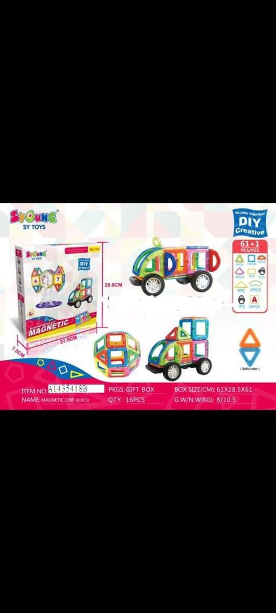 Happy Island 32 Piece Magnetic Bricks Building Blocks Tiles Kids Children Educational Toy Set