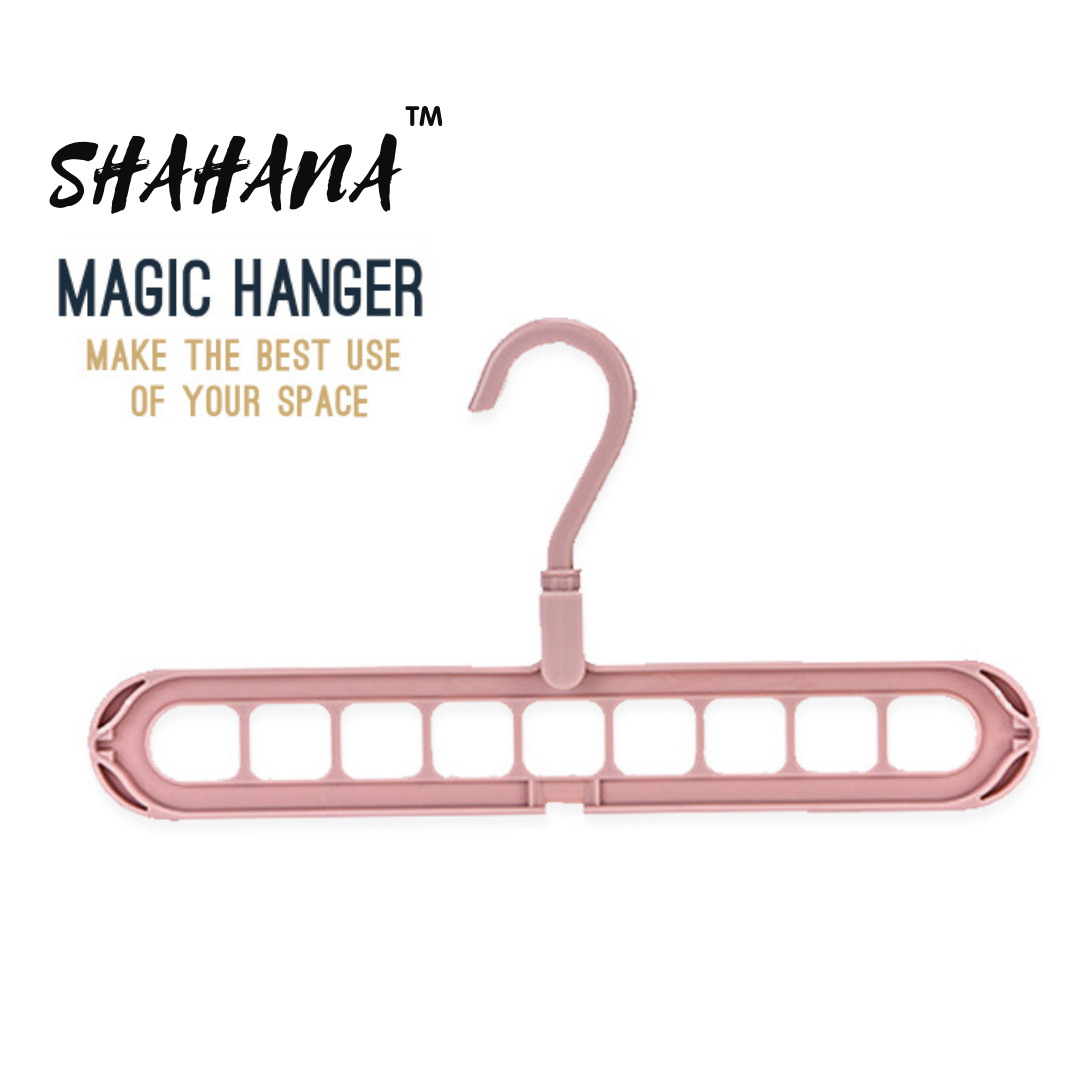 H&S 9 Hole Magic Hanger - Space Saving Gadget - Closet Organizer with 360 Holder Rotation in Durable Plastic