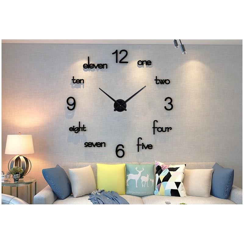 Acrylic Large Wall Clock Modern Design 3D Wall Clock Silent Home Decor Living Room Quartz Wall Clock