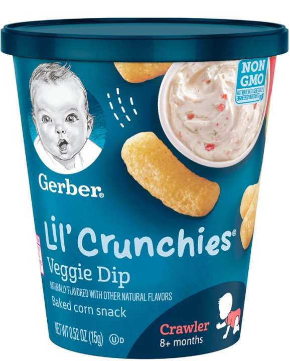 Gerber Graduates Lil Crunchies Veggie Dip Cup 15g