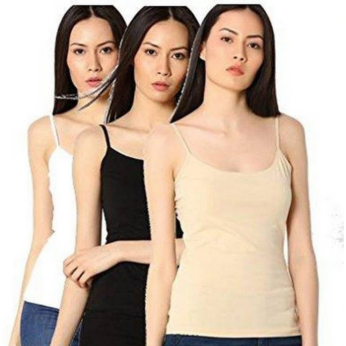 Pack of 3 Camisole For Women Girls  Shameez Strechable pure cotton Tank Tops for Women Girls