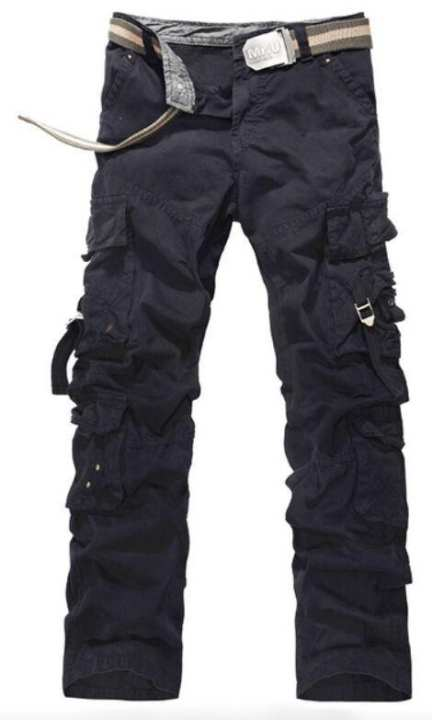 Black Cargo Trousers Pant For Men