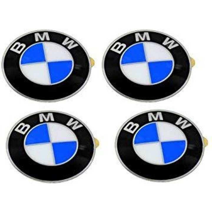 BMW Wheel Cap Logo Black - 4 Pieces