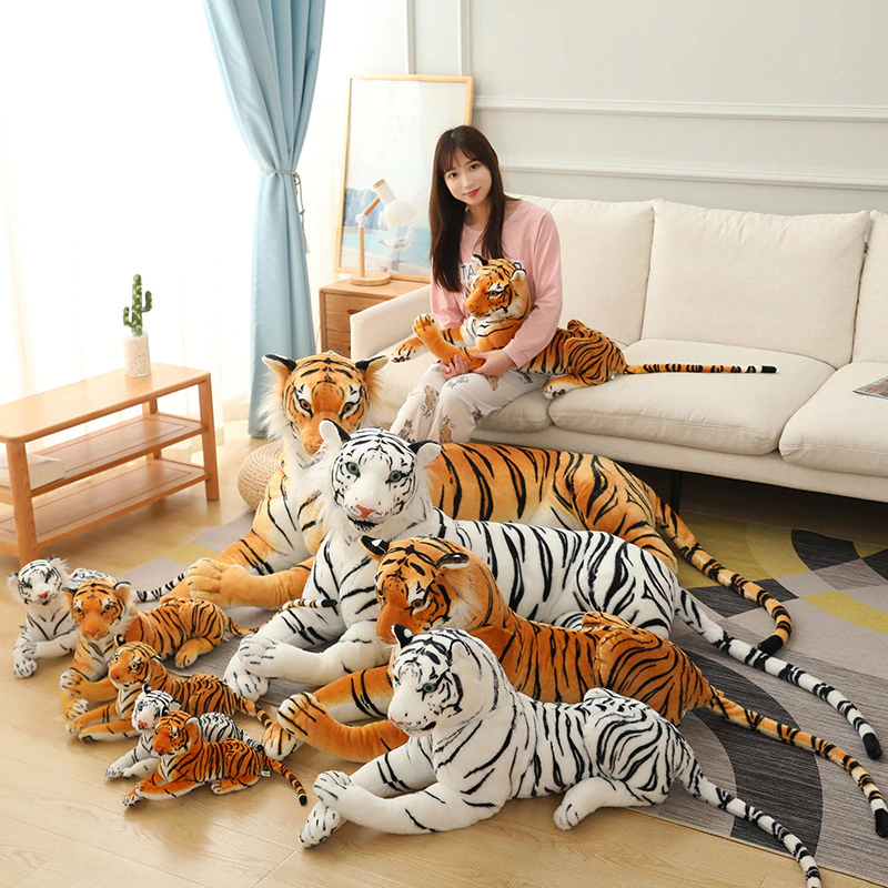 Giant White Tiger Stuffed Toy Baby Lovely Big Size Tiger Plush Doll Soft Pillow Children Kids Gift Valentines Gift Love Teddy Bear Girl Birthdays Party Gifts Bed Toy Pillow (Available in 80CM / 30Inch)