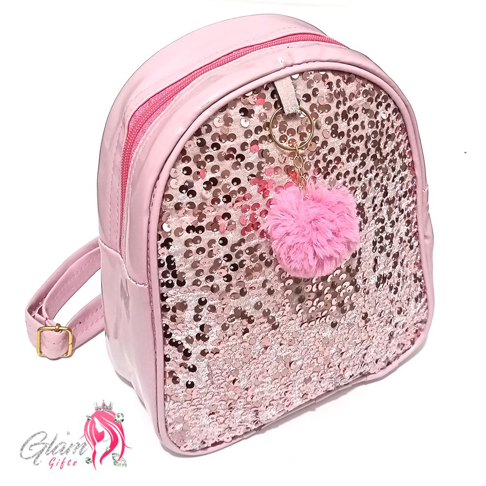 Sequin Fashion Backpack for Girls School College Bag Lady Shoulder Bag