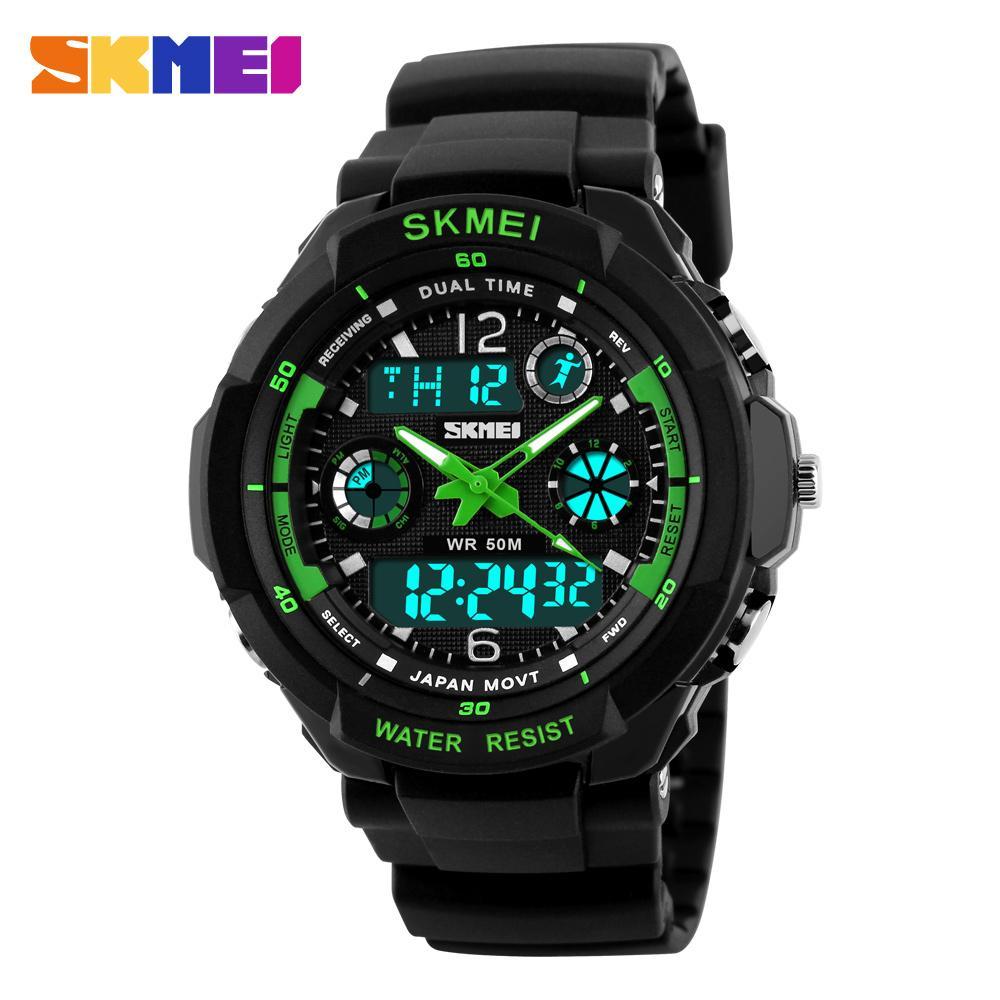 SKMEI 0931- Resin - Men's Sports Watch- Green/Black