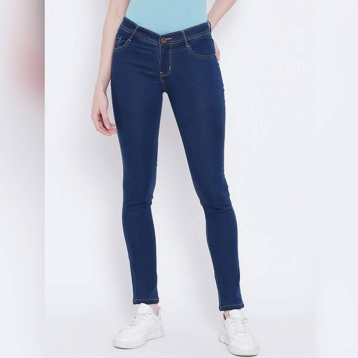 Women Blue Regular Fit Mid-Rise Clean Look Jeans